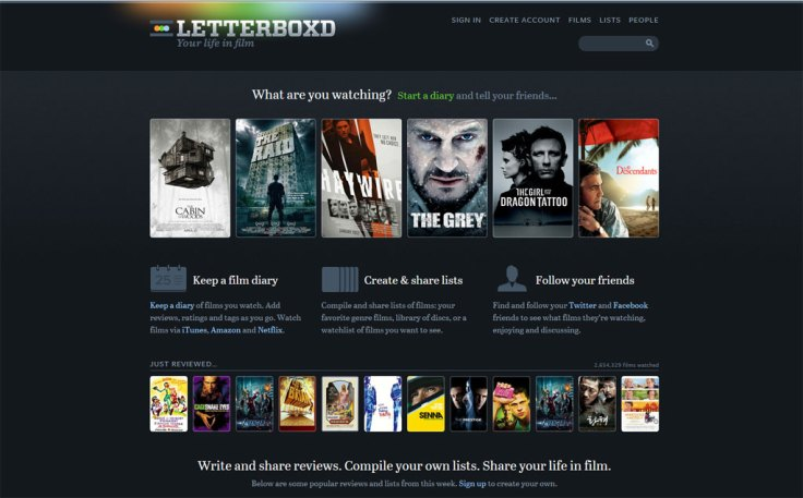 Letterboxd.com - social media om film